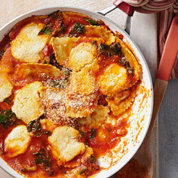 Wild Mushroom Ravioli Skillet Lasagna