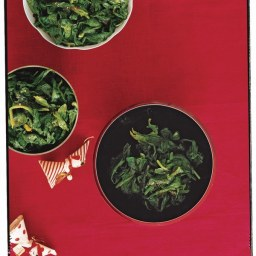 Wilted Spinach with Nutmeg Butter