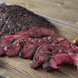 Wine-Marinated Flank Steak with Pinot Noir Mushroom Sauce