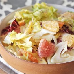 Winter Greens Salad With Fennel, Citrus, and Creamy Citrus Vinaigrette Reci
