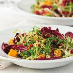 Winter Salad with Roasted Squash and Pomegranate Vinaigrette