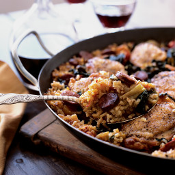 Winter Vegetable-Chicken Paella