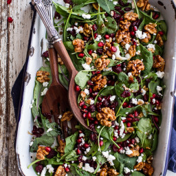 Winter Salad with Maple Candied Walnuts + Balsamic Fig Dressing (+ a BIG GI