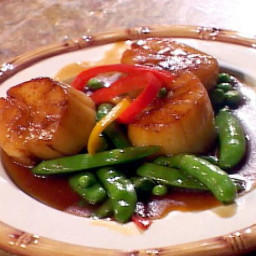 Wok Seared Scallops In Teriyaki Tabasco Butter Sauce