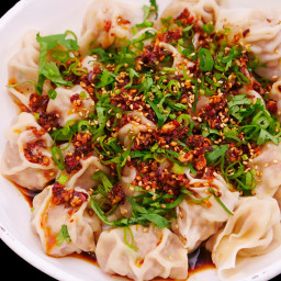 Wontons in Chili Oil