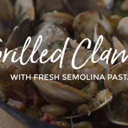 Wood Fired Clams and Fresh Pasta
