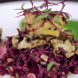 Woodlot's Grilled Mushroom and Beet Salad