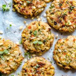WW Baked Corn and Crab Cakes