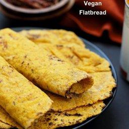 Yeast-free Sweet Potato Vegan Gluten free flatbread