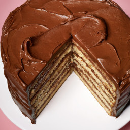 Yellow Layer Cake with Chocolate–Sour Cream Frosting