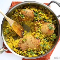 Yellow Rice Chicken Skillet
