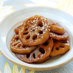 Yeongeun jorim (Sweet Soy Braised Lotus Roots)