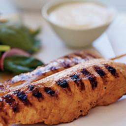 Yogurt-and-Spice Grilled Chicken Skewers