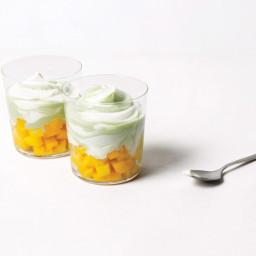 Yogurt & Matcha Swirl with Mango