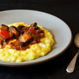 Yotam Ottolenghis Sweet Corn Polenta with Eggplant Sauce