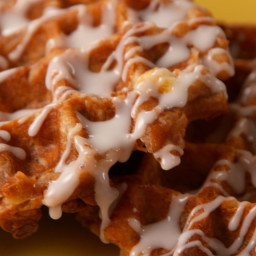 Your Weekend Mornings Need These Cinnamon Roll Waffles