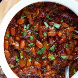 Zesty Baked Beans with Bacon