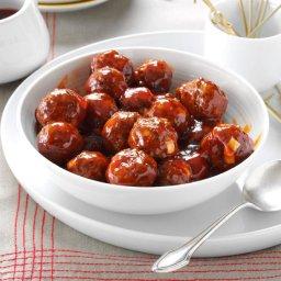 Crockpot Zesty Italian BBQ Meatballs