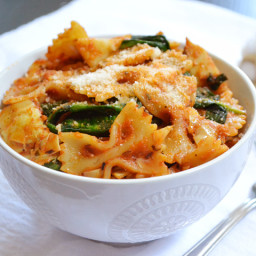 zesty tomato and artichoke pasta
