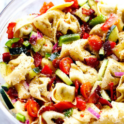 Zesty Tortellini Bacon Vegetable Salad