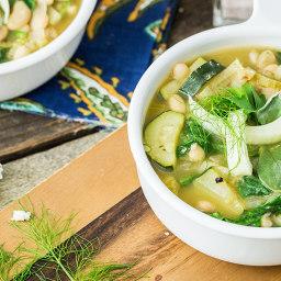 Zingy Italian White Bean Soup