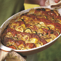 Zucchini & Summer Squash Gratin with Parmesan & Fresh Thyme