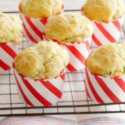 Zucchini and bacon and parmesan muffins