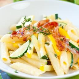Zucchini and Bacon Pasta (5)