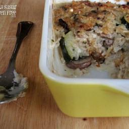 Zucchini and Brown Rice Gratin