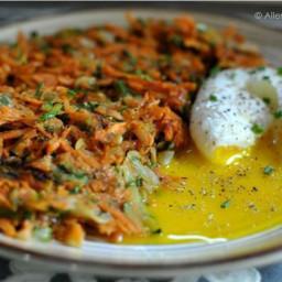 Zucchini and Sweet Potato Hash Browns