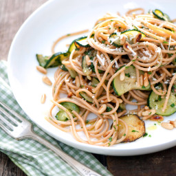 Zucchini and Toasted Pine Nut Pasta