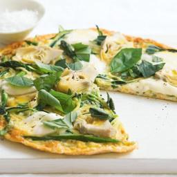 Zucchini, artichoke and asparagus frittata