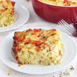 Zucchini, bacon and rice casserole recipe