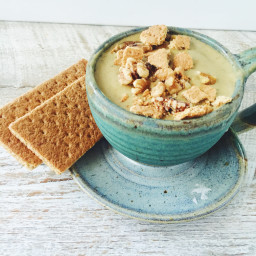 Zucchini Bread Inspired Smoothie Bowl with Walnut Graham Cracker Crumble