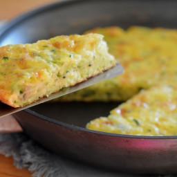 Zucchini & Cheddar Frittata