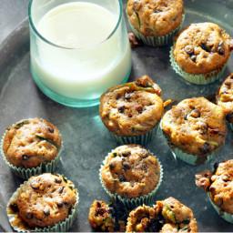 Zucchini-Chocolate Chip Mini Muffins