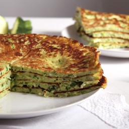Zucchini Feta Pancakes
