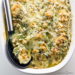 Zucchini Gratin Recipe (Low Carb Cheesy Zucchini Casserole)