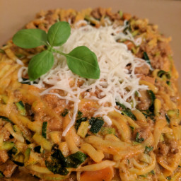 Low Carb Zucchini Noodle Spaghetti Bolognese