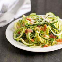 Zucchini Noodle Pasta Carbonara