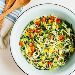 Zucchini Noodle Spaghetti Salad