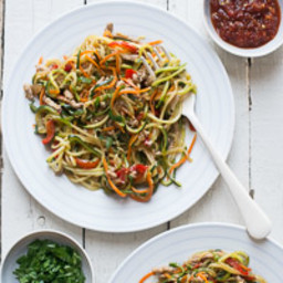 Zucchini Noodles Chow Mein Recipe with Ground Pork