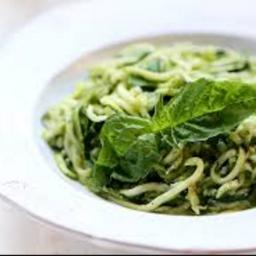 Zucchini Noodles with Almond Pesto