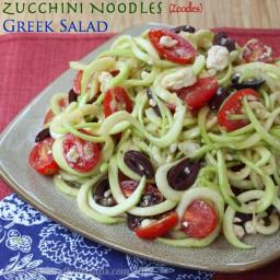 Zucchini Noodles (Zoodles) Greek Salad