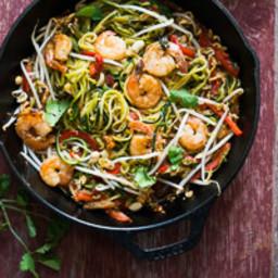 Zucchini Pad Thai Noodles Zoodles