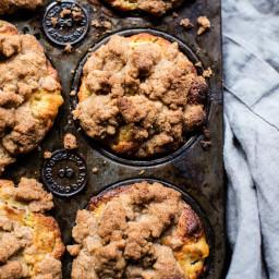 Zucchini Peach Streusel Muffins.