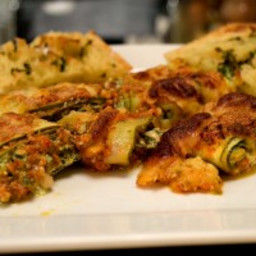 Zucchini Rolls stuffed with Spinach and Ricotta