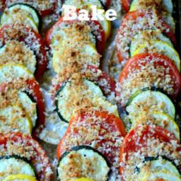 Zucchini, Summer Squash, Tomato Bake
