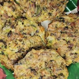 Zucchini, Wild Rice, and Hazelnut Fritters