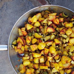 Zucchini with Potatoes and Thyme